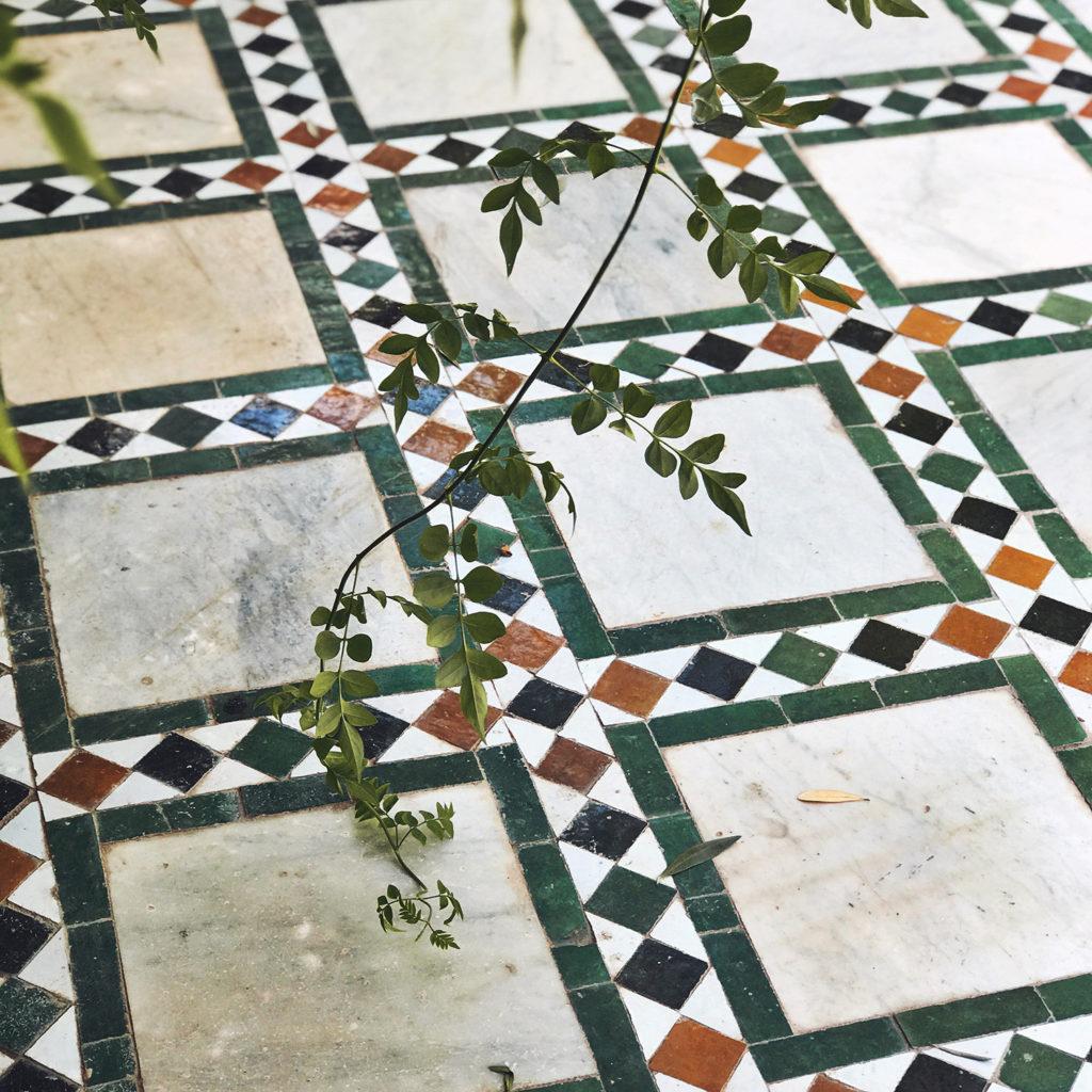Pałac Bahia, marokańska mozaika